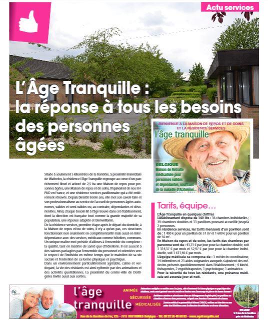 L'Age Tranquille, la réponse à tous les besoins des personnes âgées