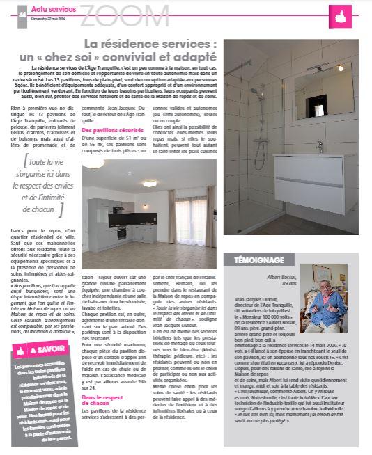 La Résidence Services: un «chez soi» convivial et adapté