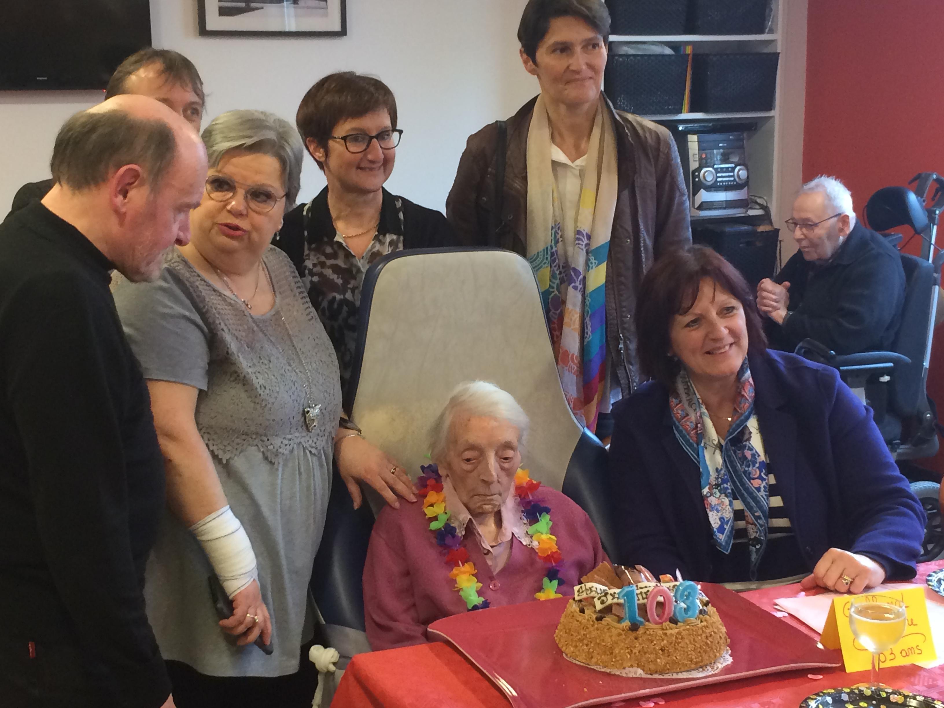 les 103 ans de Madame Jeanne GALLAND le 28/03/18